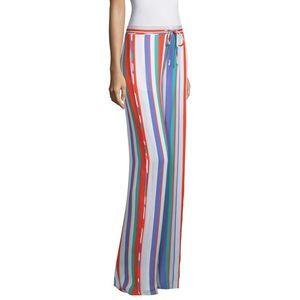 Ramy Brook Striped Drawstring Silk S New